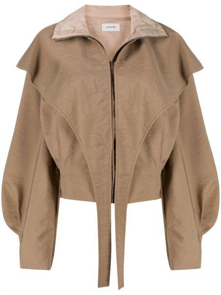 Bawełna wełniany prosto długa kurtka za pełne Lemaire