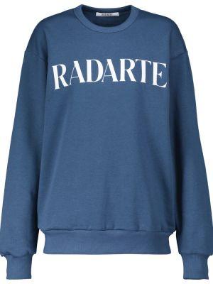 Повседневный синий хлопковый свитшот Rodarte