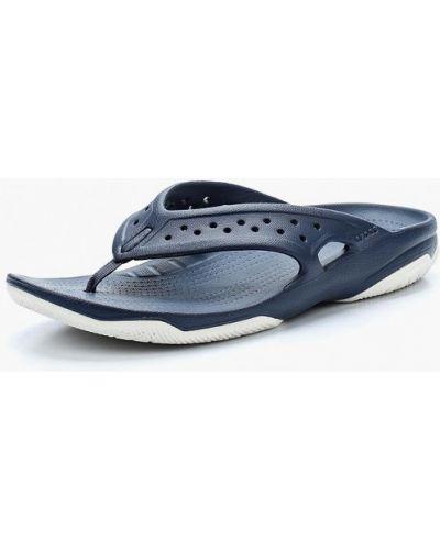 Синие пляжные шлепанцы Crocs