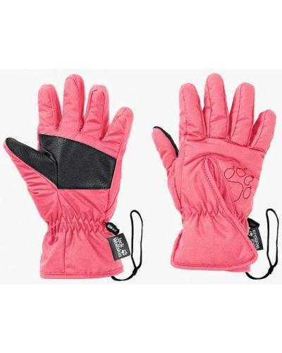 Розовые перчатки Jack Wolfskin