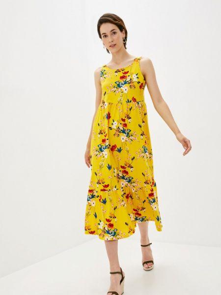 Повседневное желтое повседневное платье Lori
