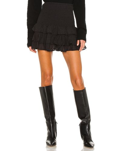 Bawełna czarny spódnica mini z haftem Tularosa