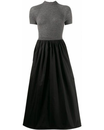 Платье мини в рубчик с вырезом Prada