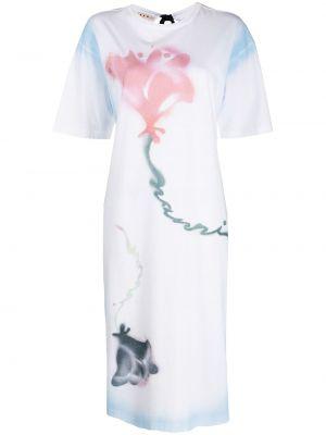 Платье мини короткое - белое Marni