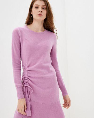 Фиолетовое вязаное платье Rodier
