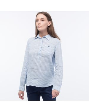 Рубашка в полоску свободного кроя Lacoste