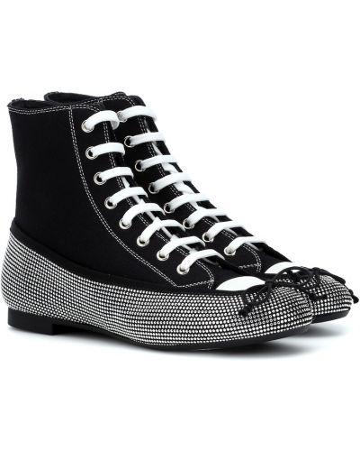 Sneakersy tekstylne czarne Marco De Vincenzo