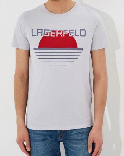 Серая футболка Lagerfeld