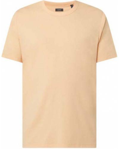 Pomarańczowy t-shirt bawełniany Esprit Collection