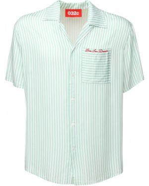 Koszula krótkie z krótkim rękawem w paski z paskami 032c