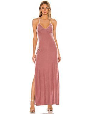 Платье макси розовое на бретелях Nbd