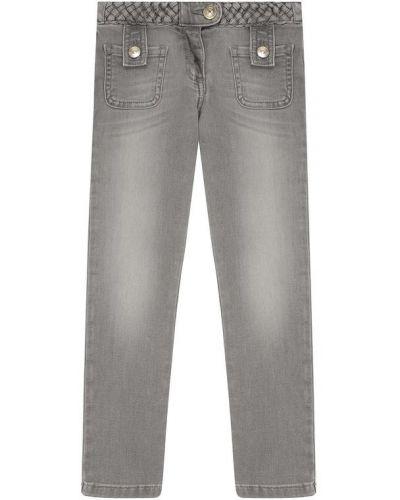 Прямые джинсы с эффектом потертости с накладными карманами Chloé