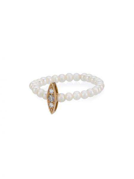 Белое кольцо с бриллиантом Anissa Kermiche