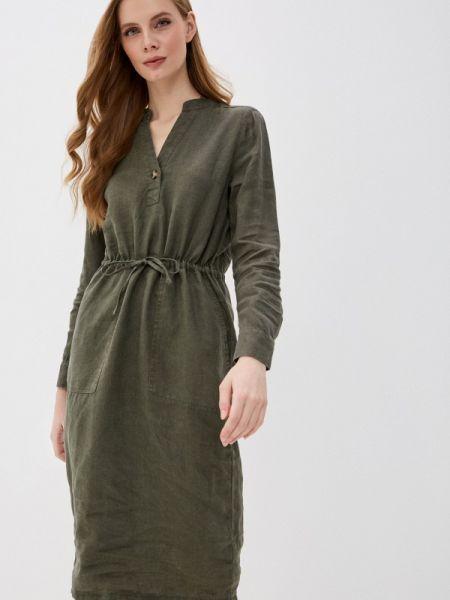 Повседневное платье зеленый весеннее Marks & Spencer