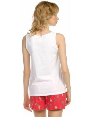Пижамная пижама с шортами на бретелях эластичная Pelican