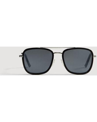 Солнцезащитные очки черные Mango Man