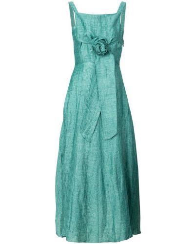 Платье с поясом платье-солнце с квадратным вырезом Masscob