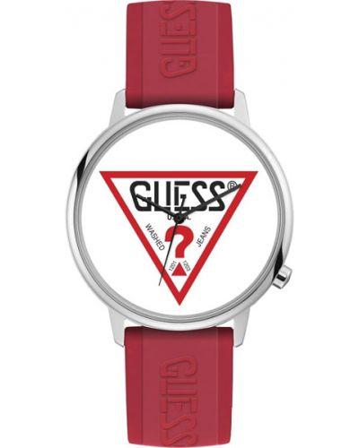 Часы водонепроницаемые белые винтажные Guess