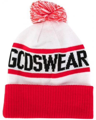 Белая шапка из джерси Gcds
