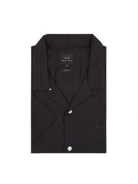 Koszula krótkie z krótkim rękawem z logo z wiskozy Armani Exchange