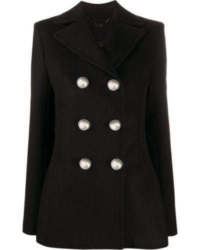 Черный приталенный классический пиджак двубортный Paco Rabanne