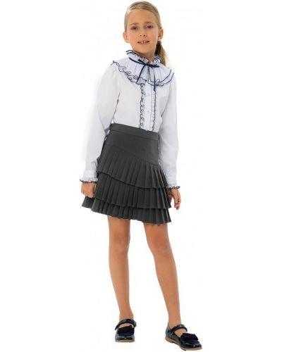 Школьная юбка с поясом на молнии с кокеткой карамелли