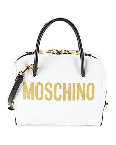 Кожаный ранец на молнии с карманами Moschino