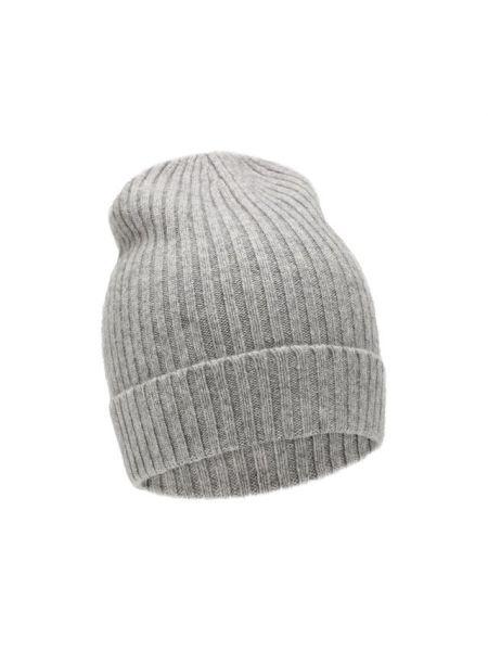 Кашемировая серая шапка эластичная Not Shy