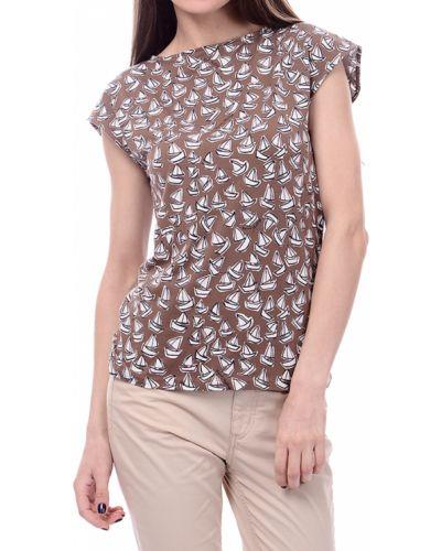 Коричневая футболка Marina Yachting