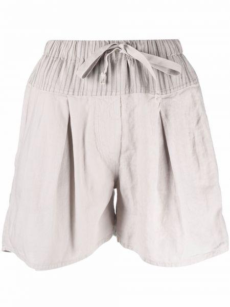 Бежевые хлопковые шорты с карманами Kristensen Du Nord