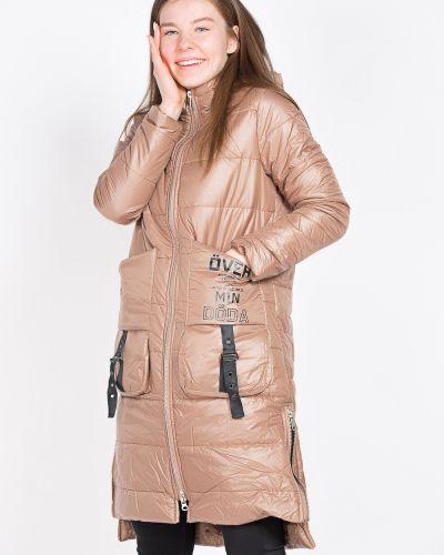 Черное пальто на синтепоне Coco Max