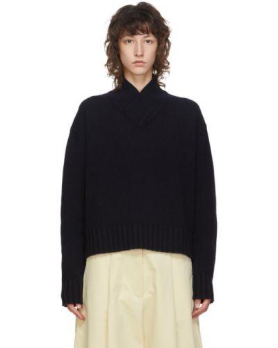 С рукавами свитер с V-образным вырезом с воротником с манжетами Studio Nicholson