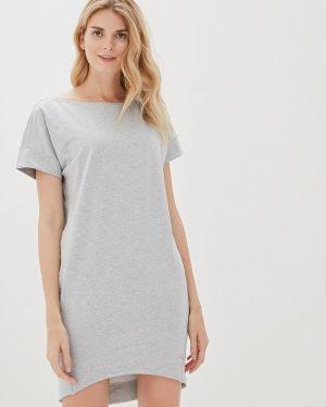 Платье серое футболка Vilatte