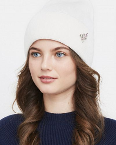 Вязаная шапка - белая каляев