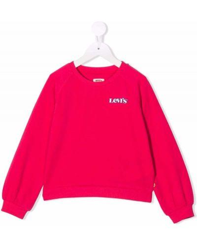 Różowa bluza z haftem Levis Kids