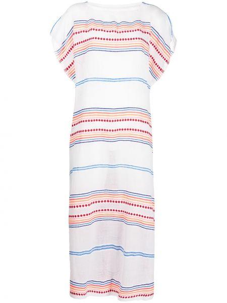 Платье мини с принтом с вырезом с короткими рукавами Lemlem