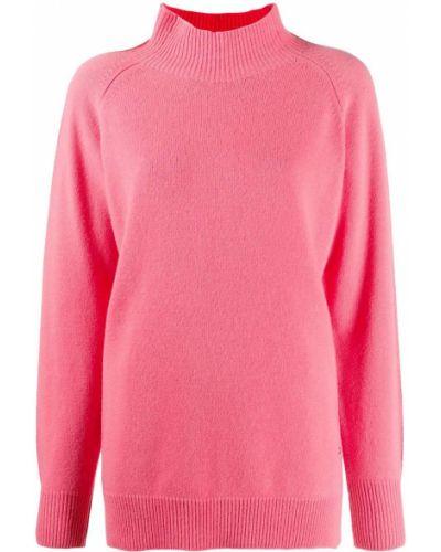 Розовый шерстяной с рукавами джемпер Markus Lupfer