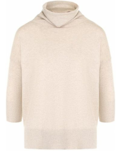 Бежевый свитер с воротником-стойкой Cruciani