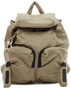 Кожаный рюкзак на молнии нейлоновый See By Chloe