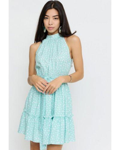 Бирюзовое платье осеннее Cardo
