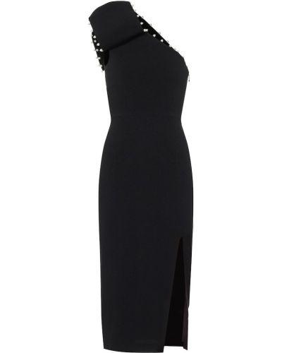 Платье миди через плечо с жемчугом Rebecca Vallance