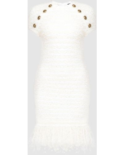 Платье мини - бежевое Balmain
