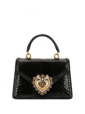 Кожаная сумка сумка-тоут с пряжкой Dolce & Gabbana