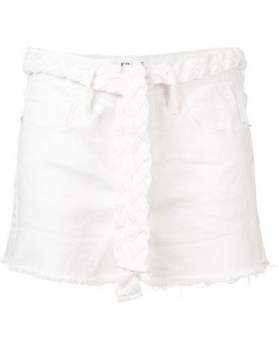Джинсовые шорты белые средний Frame