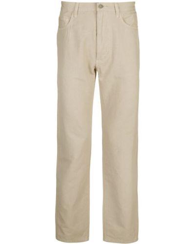 Коричневые прямые брюки с поясом на пуговицах новогодние Best Made Co