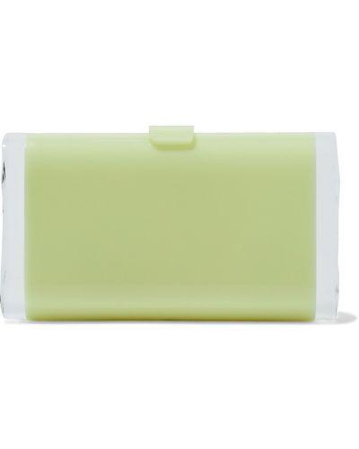 Zielona kopertówka srebrna Edie Parker