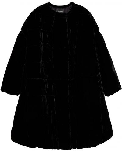 Стеганое пальто без воротника бархатное Isabel Marant
