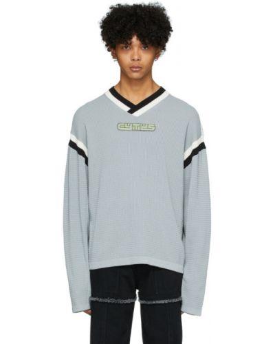 Czarny sweter z haftem bawełniany Eytys