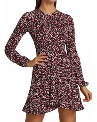 Расклешенное свободное платье мини с длинными рукавами No. 21