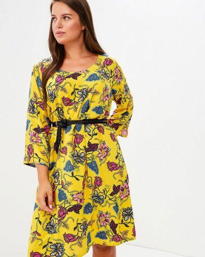 Желтое летнее платье Junarose